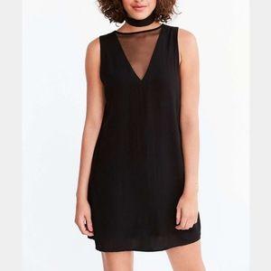 SILENCE + NOISE | Black mesh mini shift dress